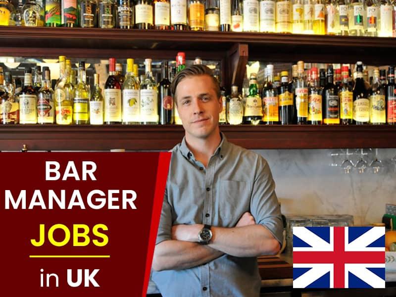 Bar manager jobs/work permit UK